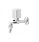 Wasser TB-030 Round Handle Wall Tap with Hose Connector