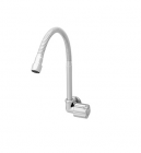 Wasser TB-041F Wall Mounted Round Handle Sink Tap with Flexible Spout